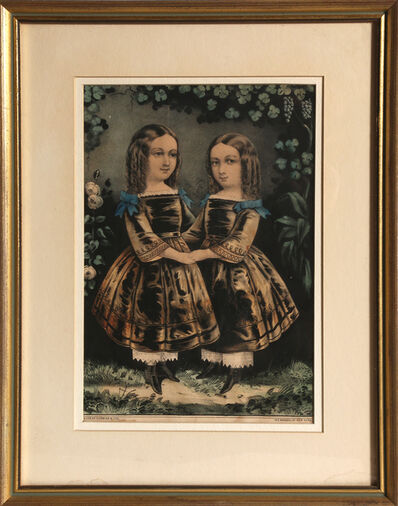Currier & Ives, 'Two Girls', circa 1863