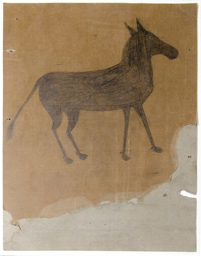 Bill Traylor, 'Startled Young Mule'