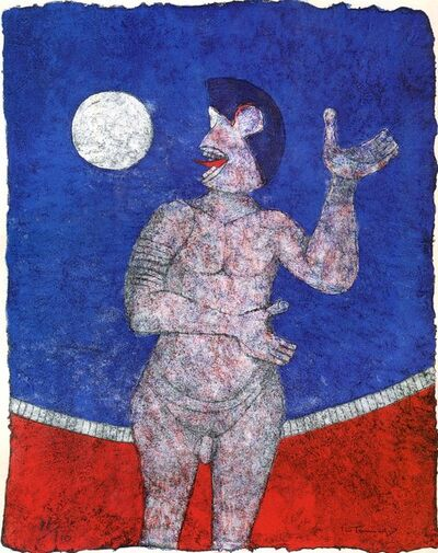 Rufino Tamayo, 'Luna Llena (Full Moon) from the 90th Anniversary suite (90 Aniversario)', 1989