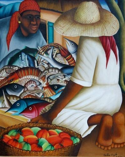 Castera Bazile, 'Fish Vendor', 1956
