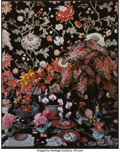 Don Worth, 'Orchids and Caladiums, Mill Valley', 1984