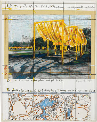 Christo, 'The Gates (Project for Central Park, N. Y. C.)', 1997