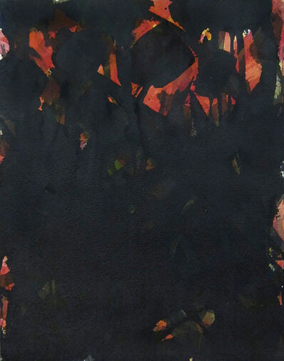 Norman Bluhm, 'Untitled (Red and Black)', circa 1955