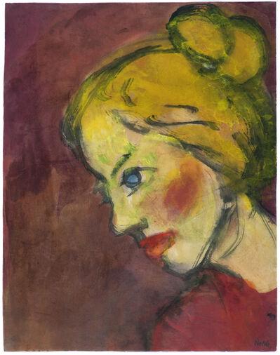 Emil Nolde, 'Mädchenbildnis', 1920-1925