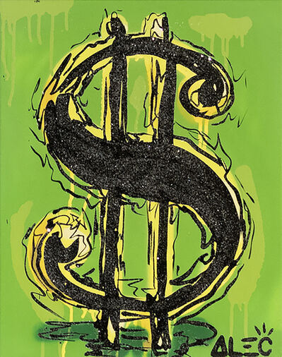 Alec Monopoly, 'Money Screen Black on Green Background ', 2019