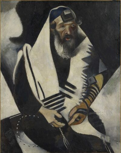 Marc Chagall, 'Jew in Black and White (Le juif en noir et blanc)', 1914