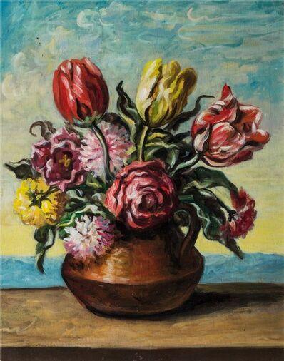 Giorgio de Chirico, 'Vase with flowers', 1951