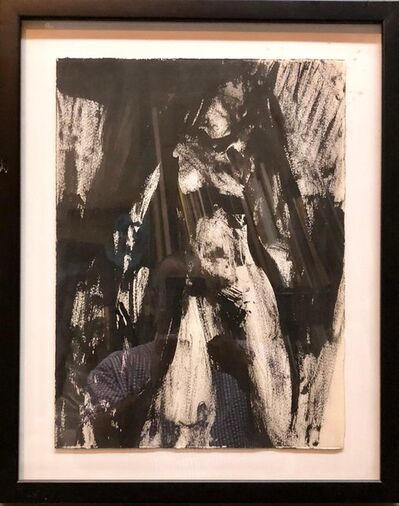 Jamie Marin-Price, 'Abstract Figure Study of a Nude Woman Oil Painting', Late 20th Century