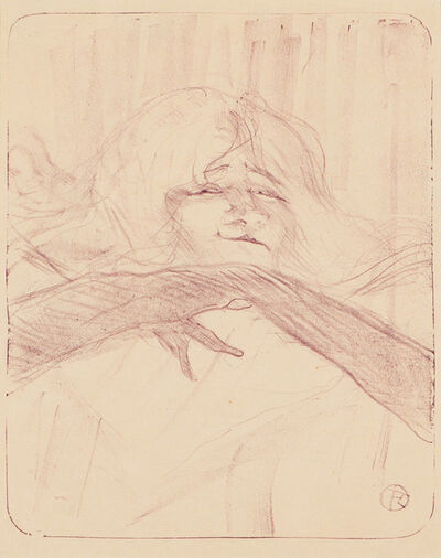 Henri de Toulouse-Lautrec, 'Linger, Longer, Loo Plate 7 from Yvette Guilbert', 1898/1930