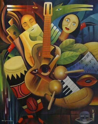 Clemente Segrera, 'Untitled - woman with guitar and instruments', 2017