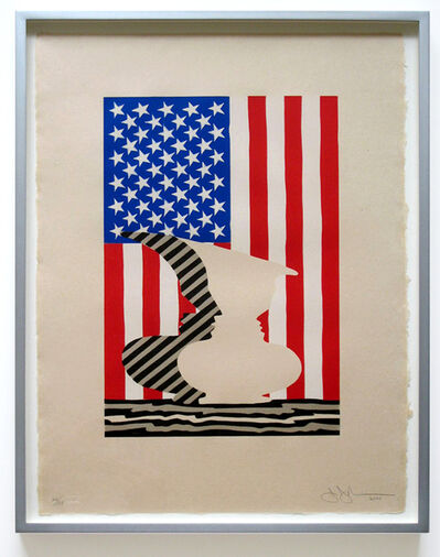 Jasper Johns, 'Untitled (Flag & Vase)', 2000