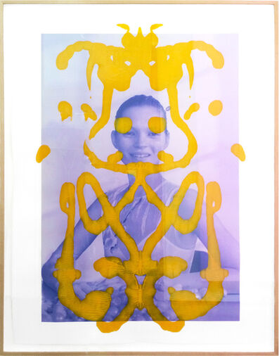 Asher Penn, 'Kate Moss Rorshach (Yellow on Blue)', 2013