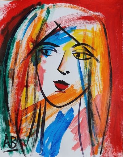 Auguste Blackman, 'Woman with Rouge', 2020