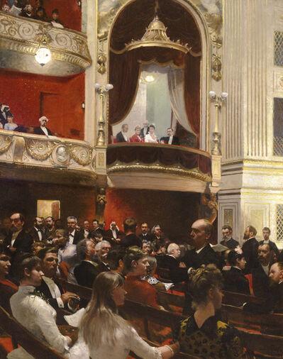 Paul Gustav Fischer, 'An Evening at the Royal Theatre, Copenhagen', 1887-1888