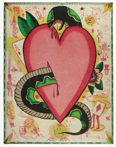 Tony Fitzpatrick, 'My Snakebit Heart', 1993