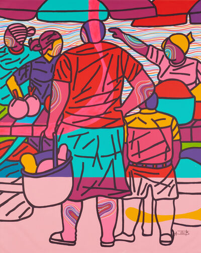 Ajarb Bernard Ategwa, 'Mother and son in the market', 2019