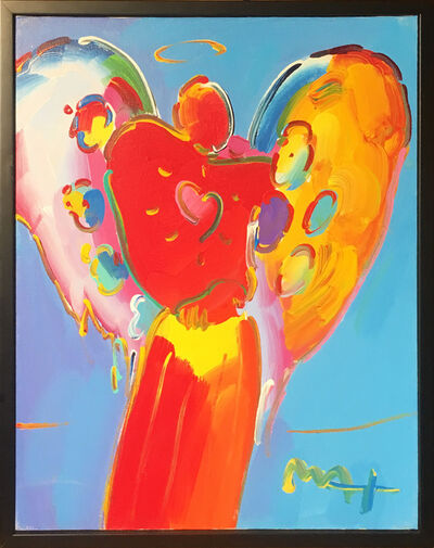 Peter Max, 'Angel with Heart'