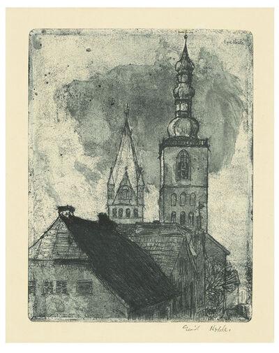 Emil Nolde, 'Petri- und Patrocli-Turm in Soest', 1906