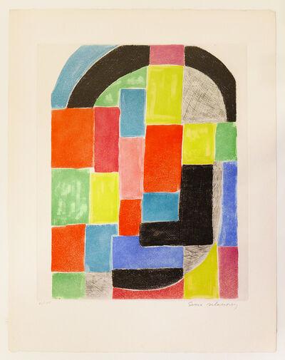 Sonia Delaunay, 'Composition with Black Arch', ca. 1970