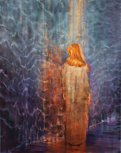 Attila Szűcs, 'Woman in Gold Evening Dress', 2015