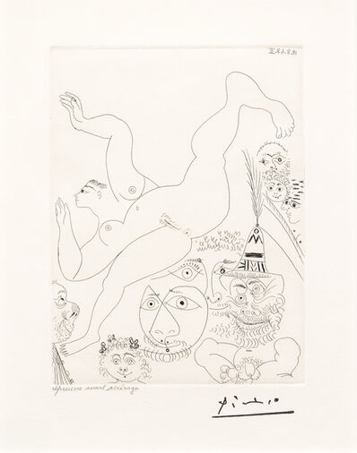 Pablo Picasso, 'Television: Gymnastique au Sol..., from the 347 Series', 1968