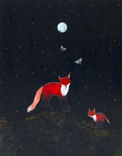Ashley Anne Clark, 'Red Foxes, Mother & Child', 2019
