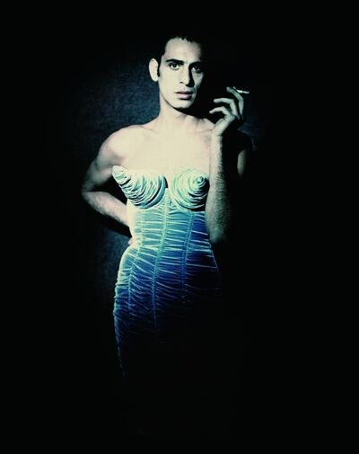 "Paolo Roversi, 'Tanel Bedrossiantz (Jean Paul Gaultier's ""Barbès"" women's ready-to-wear fall-winter collection of 1984–85)', 1992"