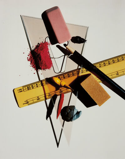 Irving Penn, 'Still Life with Triangle and Red Eraser, New York', January 23-1985