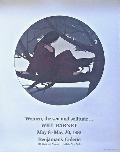 Will Barnet, 'Women The Sea and Solitude', 1981