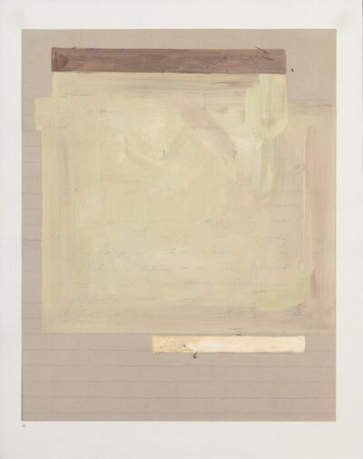 Kathryn Van Dyke, 'green/brown on lined paper-to the governor', 2011