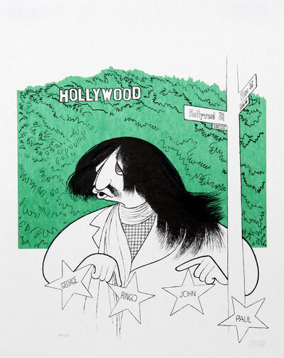 Al Hirschfeld, 'Ringo Starr Visits Hollywood', 2002