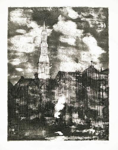 Emil Nolde, 'Hamburg, Katharinenkirche', 1910