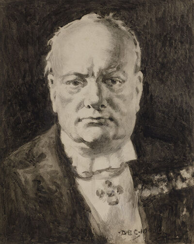 Alfred Egerton Cooper, 'Portrait of Winston Churchill', 1945
