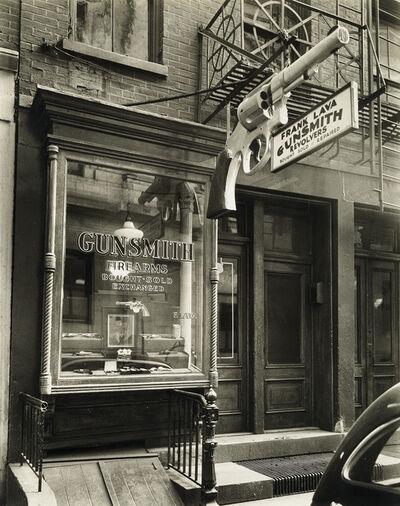 Berenice Abbott, 'Frank Lava Gunsmith. 6 Center Market Place, Manhattan (Between Broome and Grand Street).', 1937