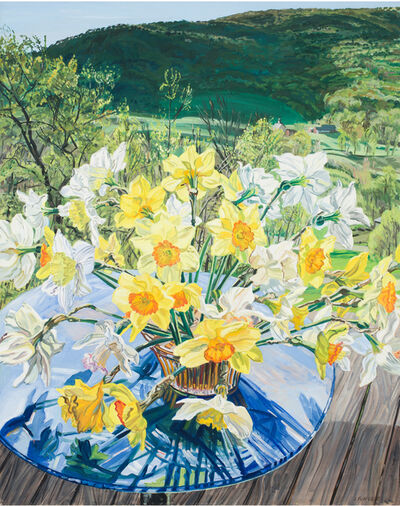 Janet Fish, 'Daffodils & Spring Trees', 1988