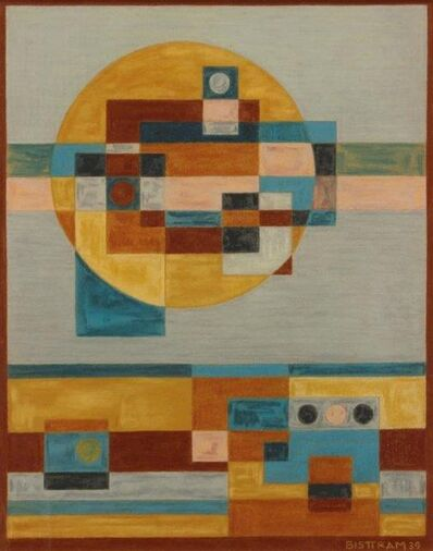 Emil Bisttram, 'Indian Symbols Abstraction', 1939