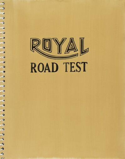 Amy Park, 'Royal Road Test Print Base on book cover by Ed Ruscha', 2018
