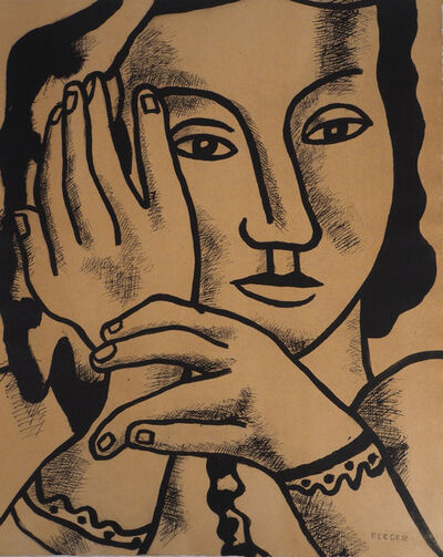 Fernand Léger, 'Portrait de Nadia', 1959