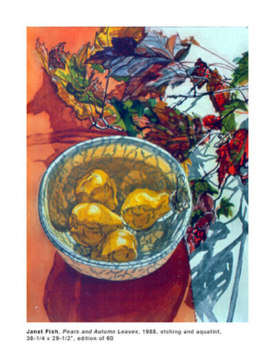 Janet Fish, 'Pears and Autumn Leaves', 1998