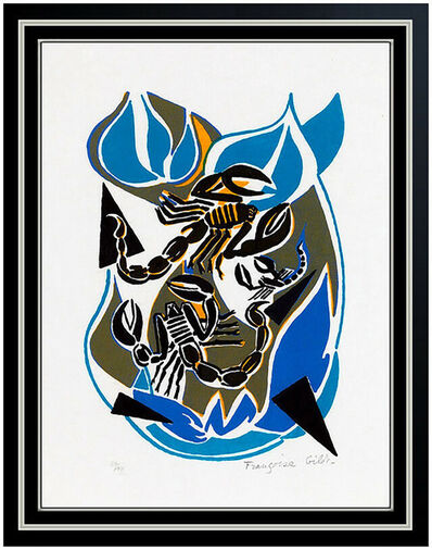 Françoise Gilot, 'Francoise Gilot Color Lithograph Sur La Pierre Poems Scorpion Hand Signed Art', 1972