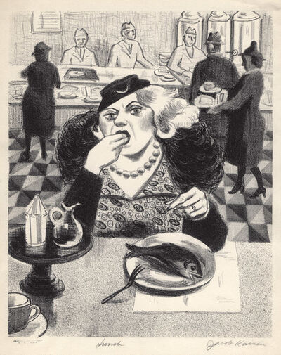 Jacob Kainen, 'Lunch', 1936