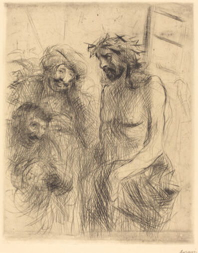 Jean-Louis Forain, 'The Mocking of Christ', 1909