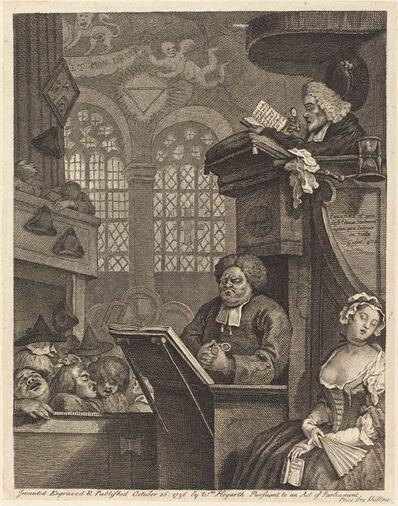 William Hogarth, 'The Sleeping Congregation', 1736