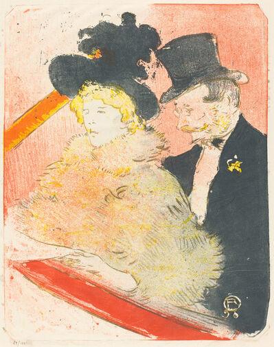 Henri de Toulouse-Lautrec, 'At the Concert (Au concert)', 1898