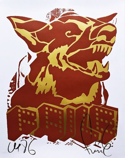 FAILE, 'Red Dog', 2018