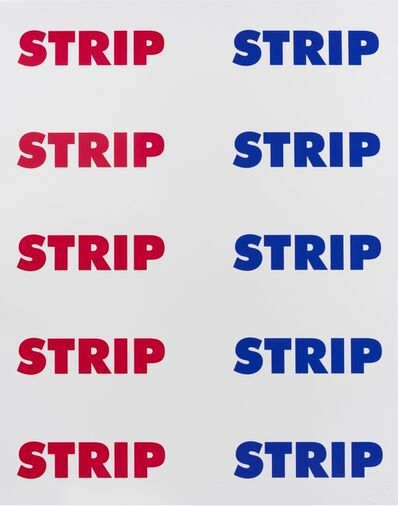 Sterling Ruby, 'STRIP STRIP (RB)', 2016