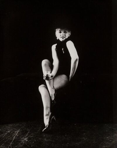 Milton H. Greene, 'Black Sitting, Marilyn Monroe Holding a Glass'