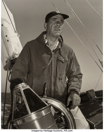 Sid Avery, 'Humphrey Bogart at the Helm of His 55 Foot Yacht 'Santana'', 1952