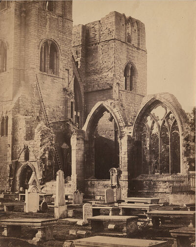 Francis Frith, 'Detached Windows and Towers, Elgin Cathedral', 1856/1857