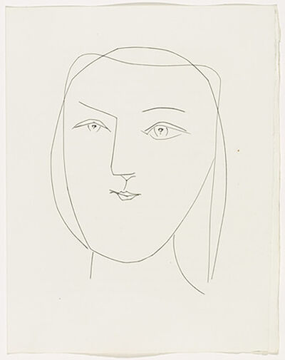 Pablo Picasso, 'Oval Head of a Woman with Piercing Eyes (Plate XXI)', 1949